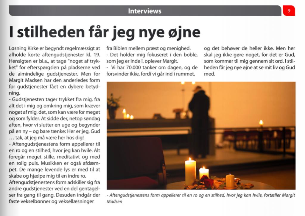 Artikel om aftengudstjeneste