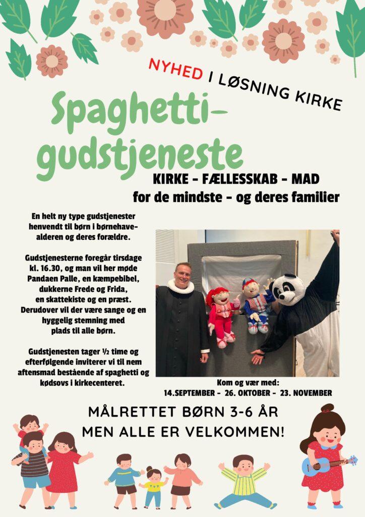 Reklame for Spaghetti-gudstjeneste